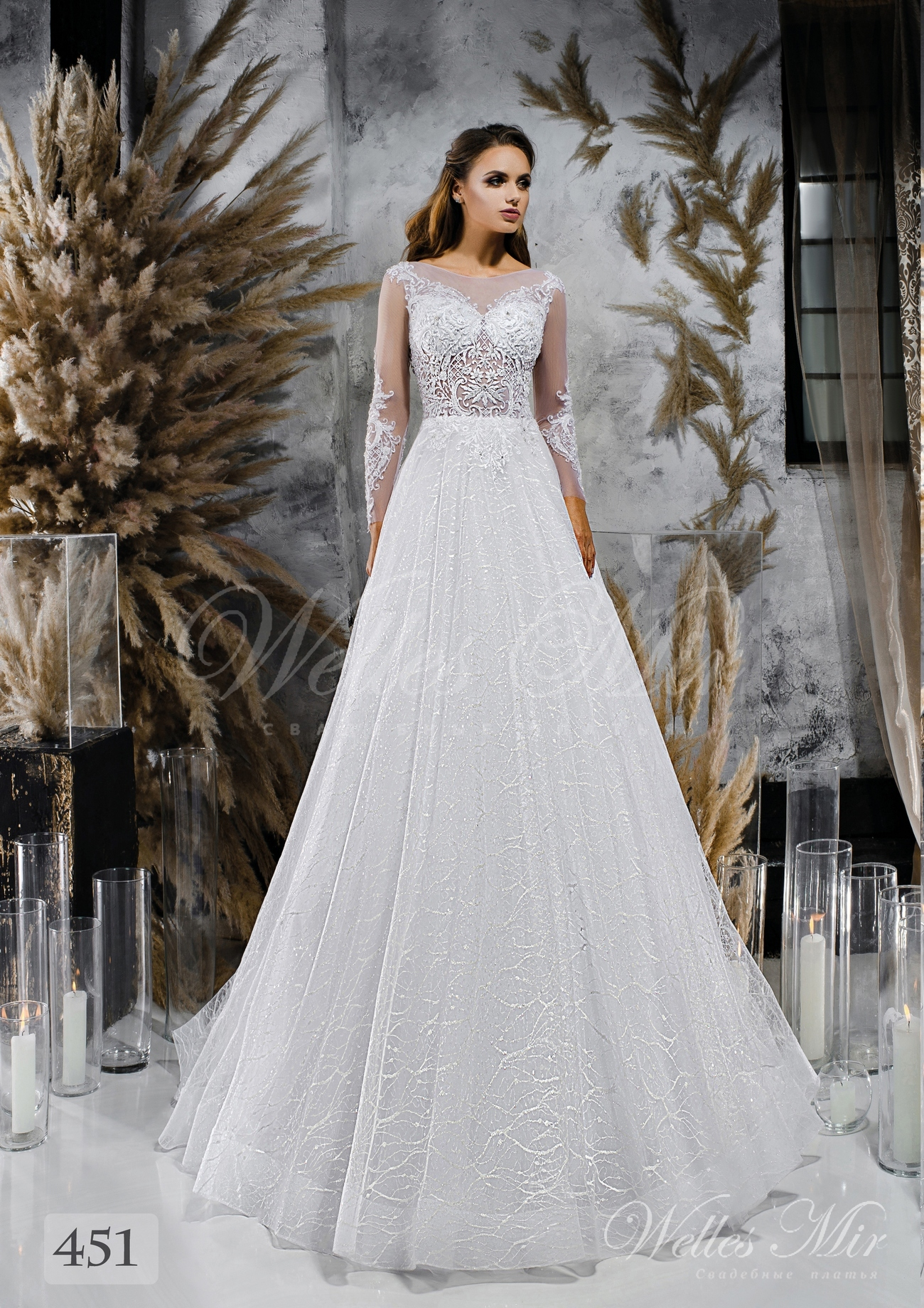 Весільні сукні з фактурною спідницею оптом від Wellesmir