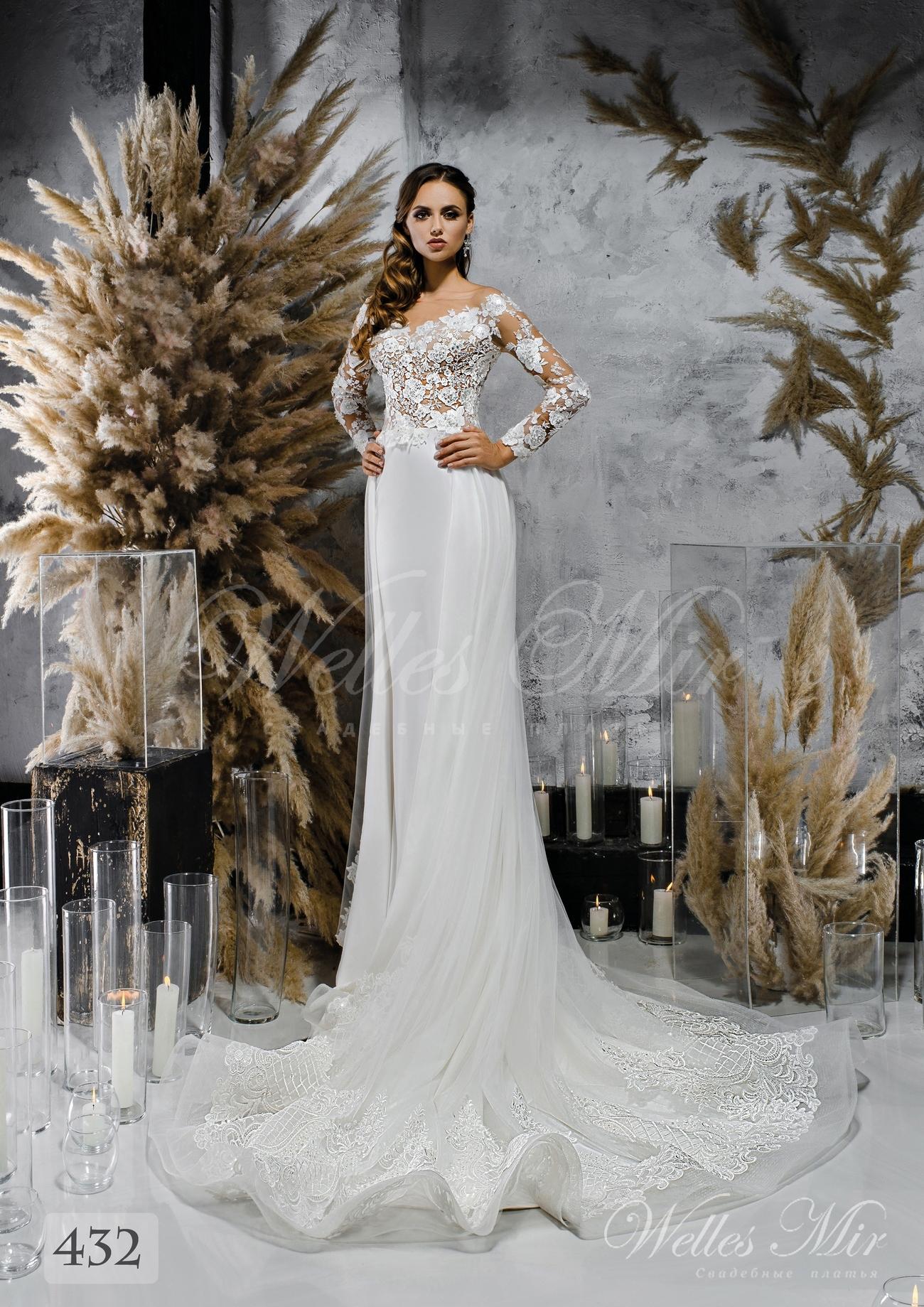 Біла весільна сукня з хвилястою спідницею оптом