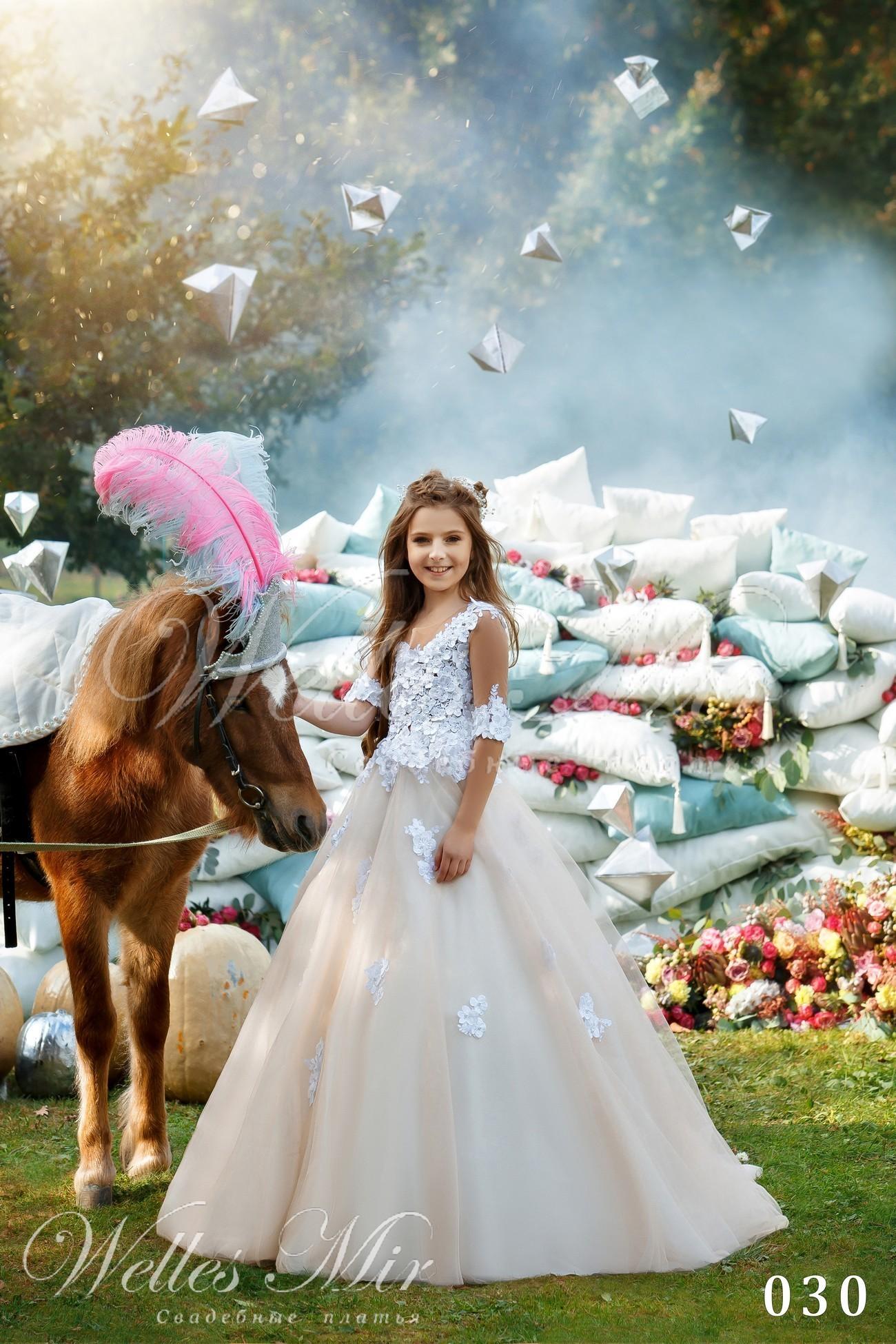 Нарядное пышное детское платье от Wellesmir оптом