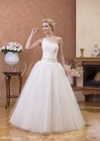 Весільна сукня на одне плече-1