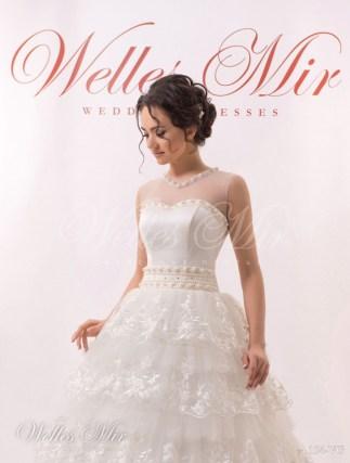 Весільна сукня з воланами-2