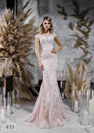 Кавова пряма весільна сукня оптом-1