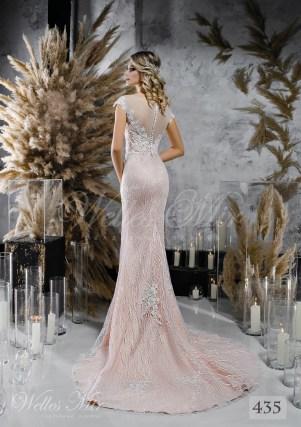Кавова пряма весільна сукня оптом-2