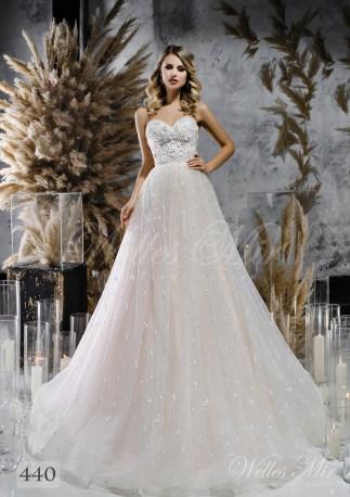 Пишна весільна сукня а-силуету оптом-1