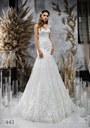 Біла весільна сукня на одне плече оптом-1