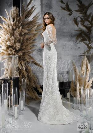 Мереживна весільна сукня прямого крою оптом-1