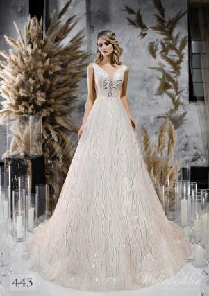 Кремова весільна сукня з відкритою спиною оптом-1