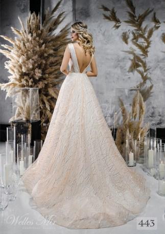Кремова весільна сукня з відкритою спиною оптом-2