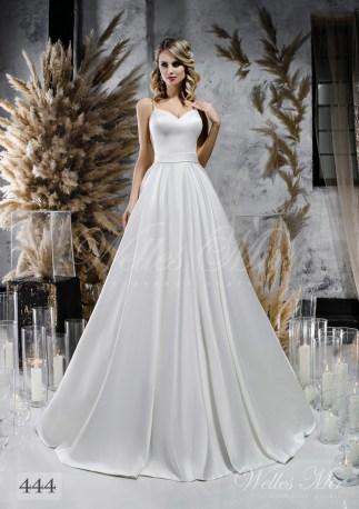 Пишна біла весільна сукня з поясом оптом-1