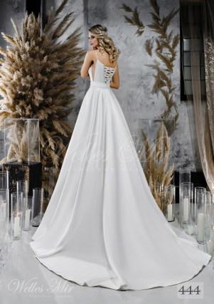 Пишна біла весільна сукня з поясом оптом-2
