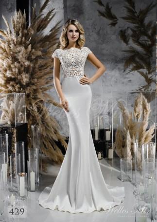 Атласна весільна сукня по фігурі оптом-1
