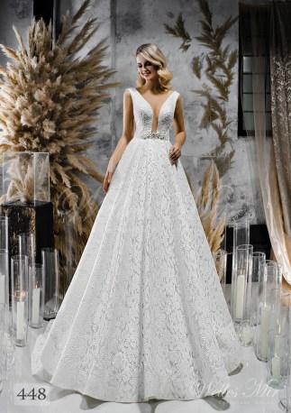 Весільна сукня з розколотим корсетом і пишною спідницею оптом-1
