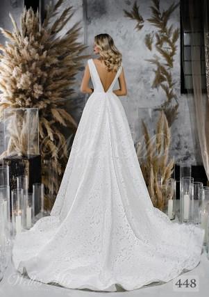 Весільна сукня з розколотим корсетом і пишною спідницею оптом-2