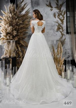Пишна весільна сукня з відкритими плечима-2