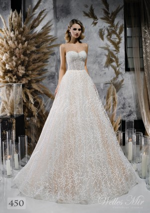 Кремова весільна сукня з розшитим корсетом оптом-1