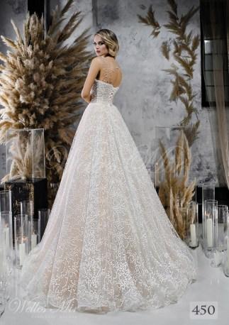 Кремова весільна сукня з розшитим корсетом оптом-2