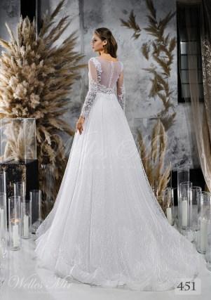Весільні сукні з фактурною спідницею оптом від Wellesmir-2