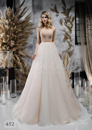 Весільна сукня з розшитим верхи на тілесній основі оптом від WellesMir-1