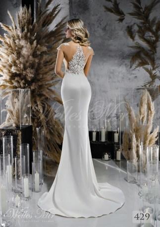 Атласна весільна сукня по фігурі оптом-2