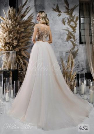 Весільна сукня з розшитим верхи на тілесній основі оптом від WellesMir-2