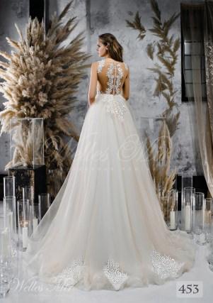 Весільна сукня А-силуету з багатошаровою спідницею з шифону оптом від WellesMir-2