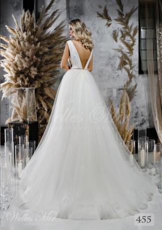 Весільну сукню з пишною спідницею і розколотим корсетом оптом від WellesMir-2