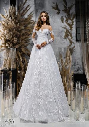 Класична мереживна весільна сукня від WellesMir-1