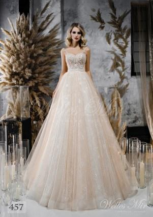 Весільна сукня відтінку капучіно від WellesMir-1