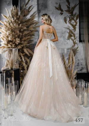 Весільна сукня відтінку капучіно від WellesMir-2