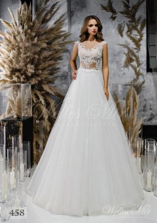Весільна сукня А-силуету з легким корсетом-1