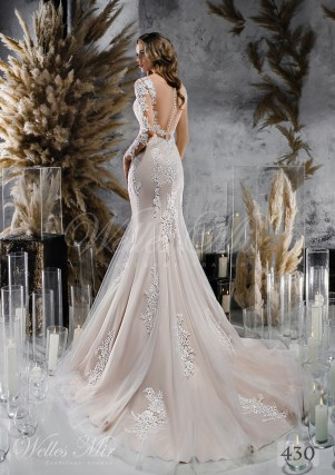 Мереживну весільну сукню русалка купити оптом-2